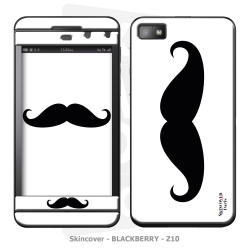 Skincover® Blackberry Z10 - Moustache B&W