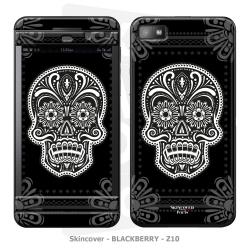 Skincover® Blackberry Z10 - Skull & Flower