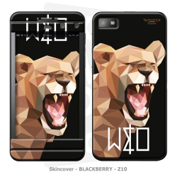 Skincover® Blackberry Z10 - Wild Life Lion By Wize x Ope
