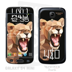 Skincover® Galaxy S4 Mini - Wild Life Lion By Wize x Ope