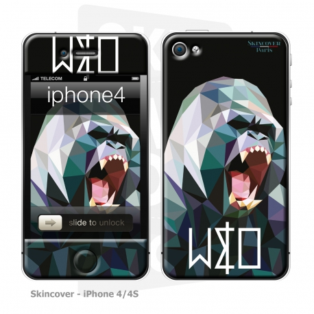 Skincover® iPhone 4/4S - Wild Life Gorilla By Wize x Ope