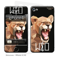 Skincover® iPhone 4/4S - Wild Life Lion By Wize x Ope