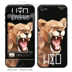 Skincover® Iphone 5/5S - Wild Life Lion By Wize x Ope