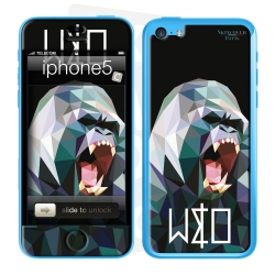 Skincover® Iphone 5C - Wild Life Gorilla By Wize x Ope