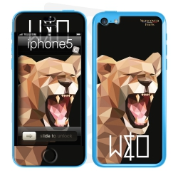 Skincover® Iphone 5C - Wild Life Lion By Wize x Ope