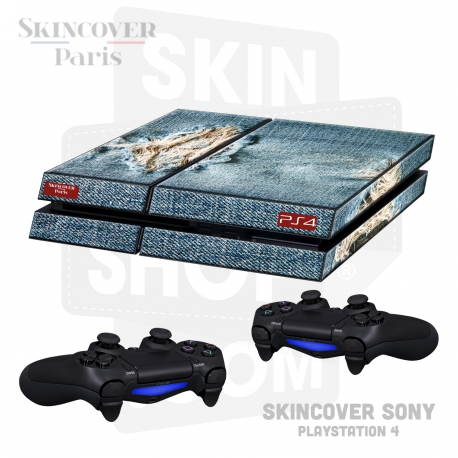 Skincover® Sony Playstation 4 - PS4 - Blue Jeans