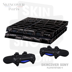 Skincover® Sony Playstation 4 - PS4 - Croco Cuir Black
