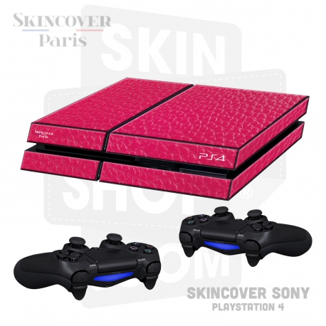 Skincover® Sony Playstation 4 - PS4 - Cuir Pink