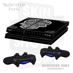 Skincover® Sony Playstation 4 - PS4 - Skull & Flower