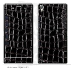 Skincover® Xperia Z3 - Croco Cuir Black