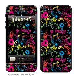 Skincover® iPhone 5/5S - Grafitti By Hello Kitty