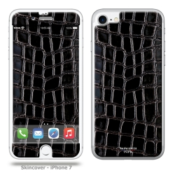 Skincover® iPhone 7 - Croco Cuir Black