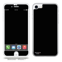 Skincover® iPhone 7 et 8 - Skin Black