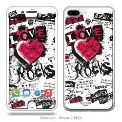 Skincover® iPhone 7 et 8 Plus - Love - Rock