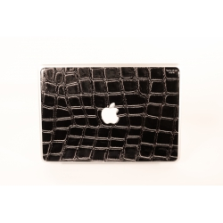 "Skincover® MacBook 13"" - Croco Cuir Black"