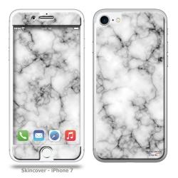 Skincover® iPhone 7 et 8 - Marbre 3 Gris foncé