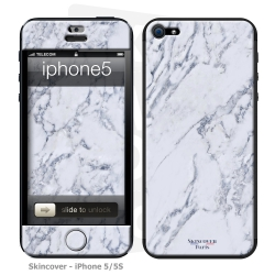 Skincover® iPhone 5 / 5S / 5SE - Marbre 1 Gris