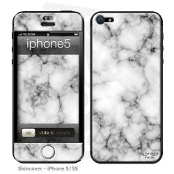Skincover® iPhone 5 / 5S / 5SE - Marbre 3 Gris